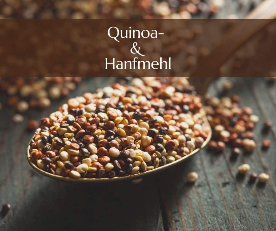 Quinoa und Hanfmehl